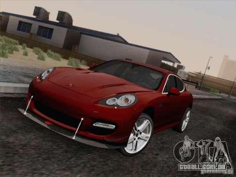 Porsche Panamera Turbo 2010 para GTA San Andreas vista traseira