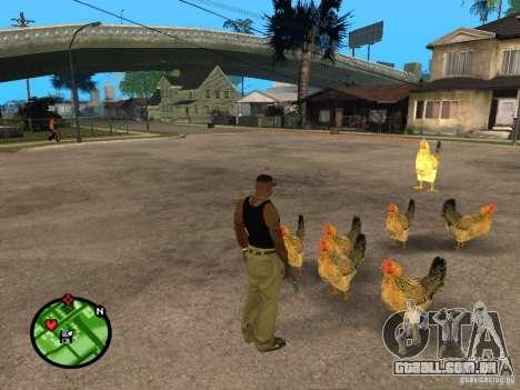 Galinhas no GTA San Andreas para GTA San Andreas