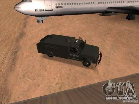 GMC SIERRA 3500 para GTA San Andreas vista traseira