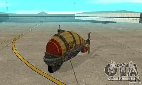 Dirigível do TimeShift para GTA San Andreas esquerda vista