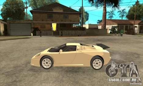 Bugatti EB110 SS 1992 para GTA San Andreas esquerda vista