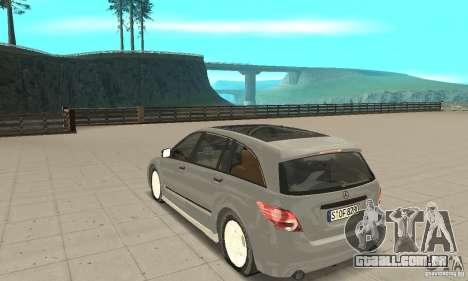 Mercedes-Benz R-Class para GTA San Andreas traseira esquerda vista