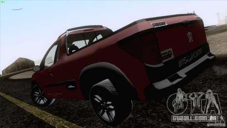 Peugeot Hoggar Escapade 2010 para GTA San Andreas traseira esquerda vista