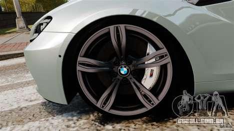 BMW M6 para GTA 4 vista superior