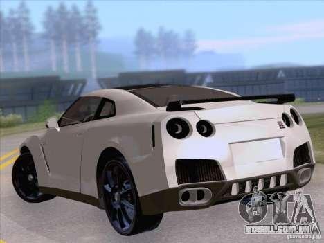 Nissan GTR Edited para GTA San Andreas traseira esquerda vista