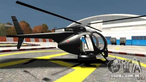 AH-6 LittleBird Helicopter para GTA 4 esquerda vista