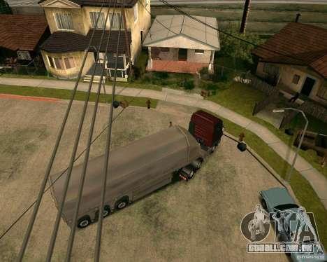 Reboque Steklovoz para GTA San Andreas traseira esquerda vista