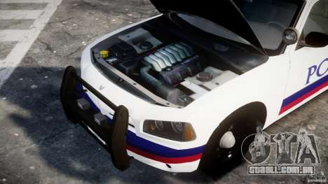 Dodge Charger Karachi City Police Dept Car [ELS] para GTA 4 vista de volta