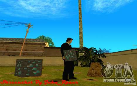 Minério de diamante do jogo Minecraft para GTA San Andreas