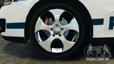 Volkswagen Golf 5 GTI South African Police [ELS] para GTA 4 vista interior