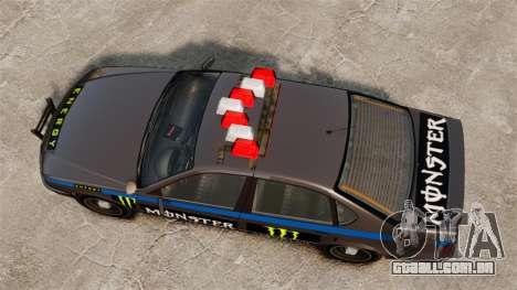 Polícia Monster Energy para GTA 4 vista de volta
