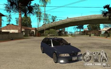 BMW M5 E39 530tdi Touring para GTA San Andreas vista traseira