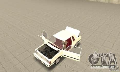 Dodge Aries 1983 para GTA San Andreas vista traseira