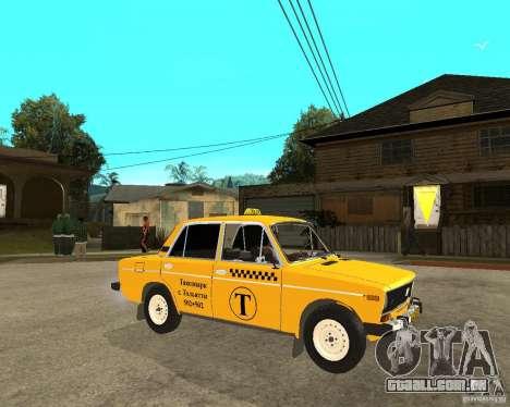 Táxi de 2106 VAZ para GTA San Andreas vista direita