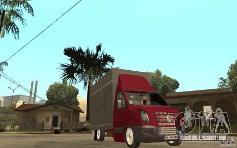 Volkswagen Crafter Case Closed para GTA San Andreas vista traseira