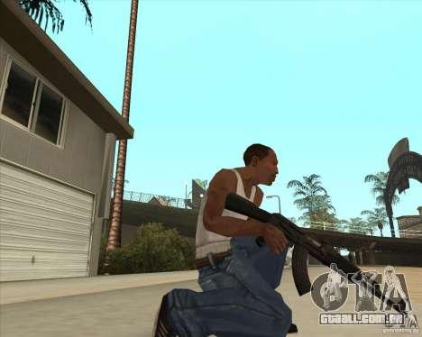 AK-47 HD para GTA San Andreas terceira tela