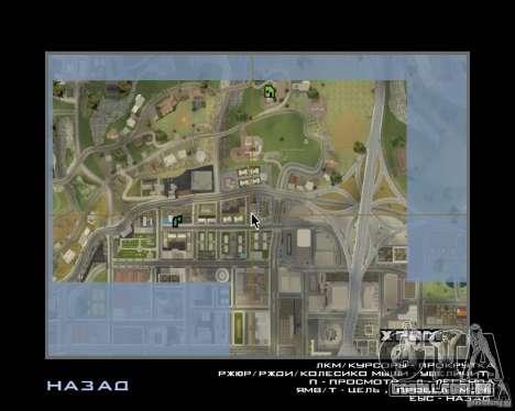 Detailed Map and Radar Mod para GTA San Andreas segunda tela