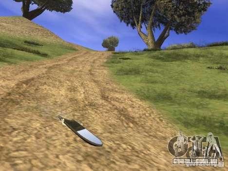 Aèrobord do filme de volta para o futuro 2 para GTA San Andreas traseira esquerda vista