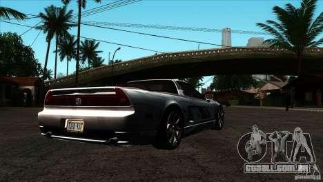 Acura NSX Stock para GTA San Andreas vista direita