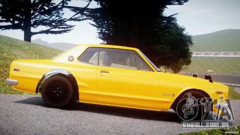 Nissan Skyline 2000 GT-R para GTA 4 esquerda vista