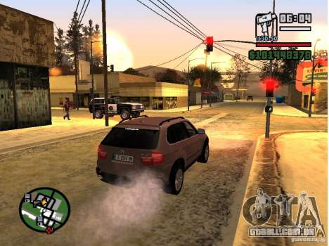 Winter Mod para GTA San Andreas por diante tela