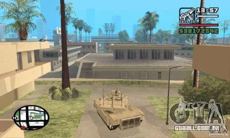 M1A2 Abrams TUSK para GTA San Andreas traseira esquerda vista