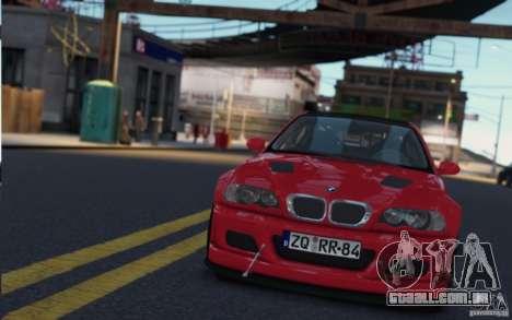 BMW M3 Street Version e46 para GTA 4 vista de volta