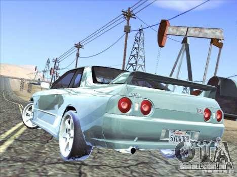 Nissan Skyline GT-R 32 1993 para GTA San Andreas vista interior
