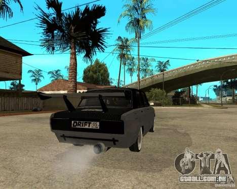 ВАЗ 2107 drift para GTA San Andreas traseira esquerda vista