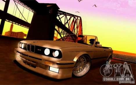 BMW E30 M3 Cabrio para GTA San Andreas vista interior