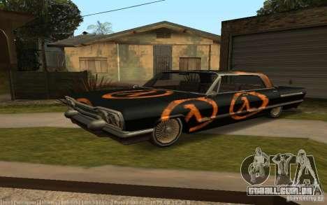 Savanna Texturen para GTA San Andreas traseira esquerda vista