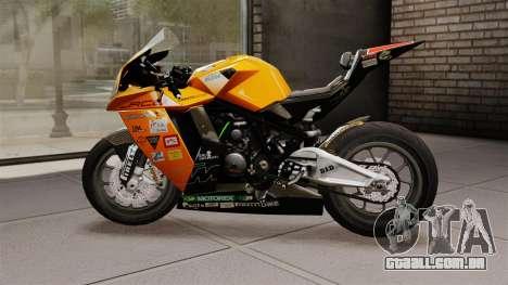 KTM RC8 R para GTA 4 esquerda vista