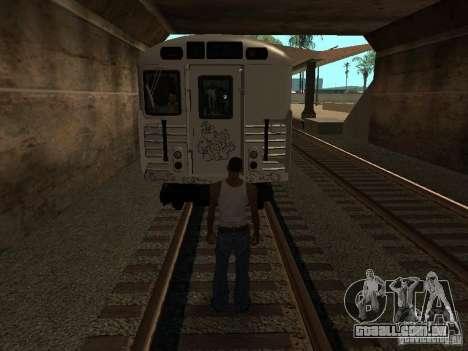 O trem de GTA IV para GTA San Andreas vista traseira