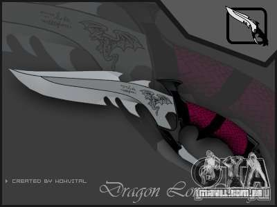 Dragon Lord knife para GTA San Andreas