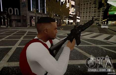 O HK416 (automático) para GTA 4 por diante tela