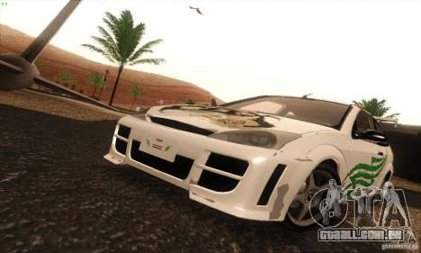 Ford Focus SVT TUNEABLE para GTA San Andreas vista interior