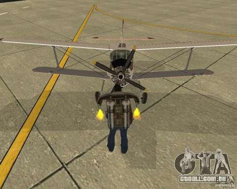 Antonov an-2 para GTA San Andreas vista traseira