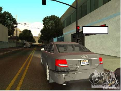 Audi A6 para GTA San Andreas vista interior