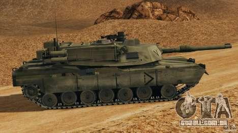 M1A2 Abrams para GTA 4 esquerda vista