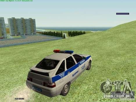 LADA 2112 DPS polícia para GTA San Andreas vista direita