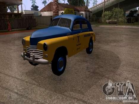 GAZ M20 Pobeda táxi para GTA San Andreas vista direita
