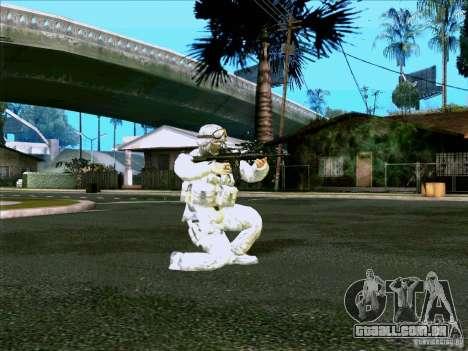 Camuflagem eletrônica Morpeh para GTA San Andreas segunda tela