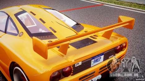 Mc Laren F1 LM v1.0 para GTA 4 vista inferior