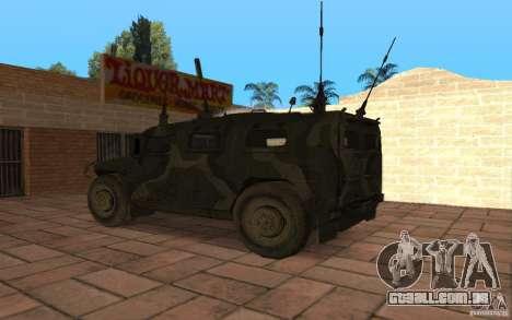 Gaz 2975 Tiger para GTA San Andreas esquerda vista