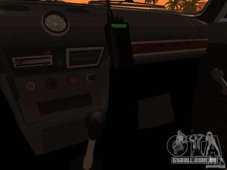 VAZ 2106 polícia v 2.0 para GTA San Andreas interior