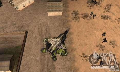 F-22 Raptor Graffity Skin 2 para GTA San Andreas vista direita