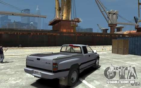 Dodge Ram 3500 1994 para GTA 4 vista direita