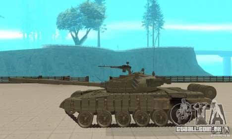 Tanque t-72B para GTA San Andreas esquerda vista