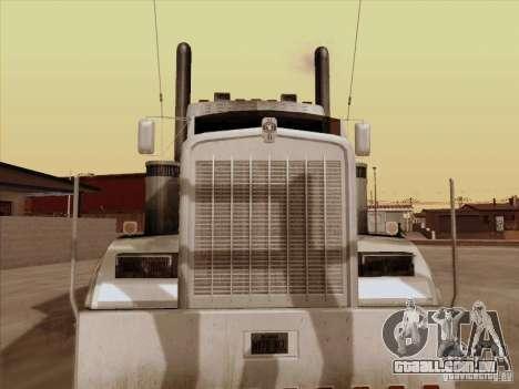 Kenworth W 900 RoadTrain para GTA San Andreas esquerda vista