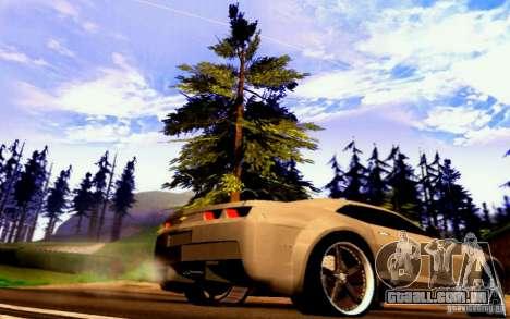 Chevrolet Camaro Tuning para GTA San Andreas traseira esquerda vista